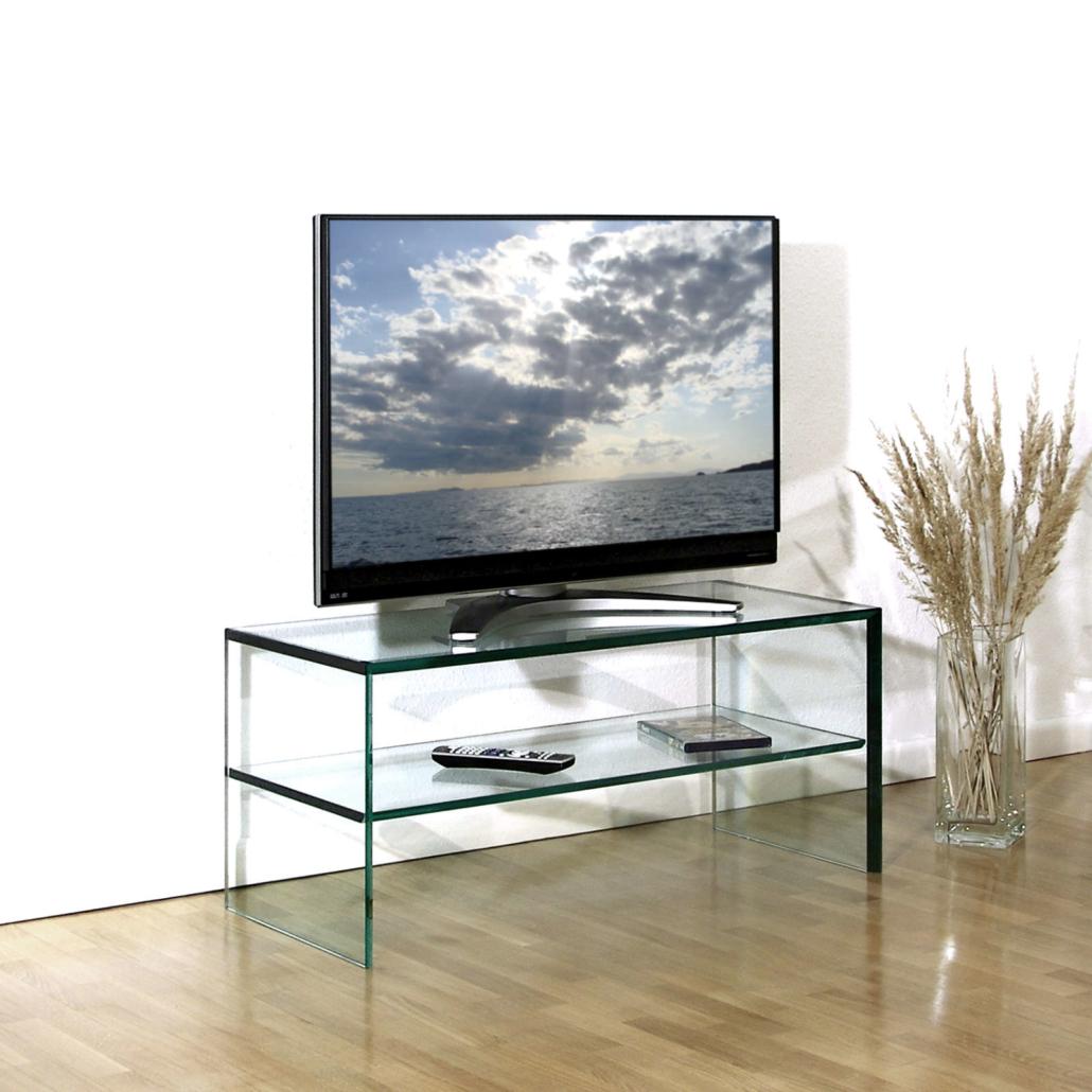 TV-Glastisch The Art | VETROSO Glasmöbel